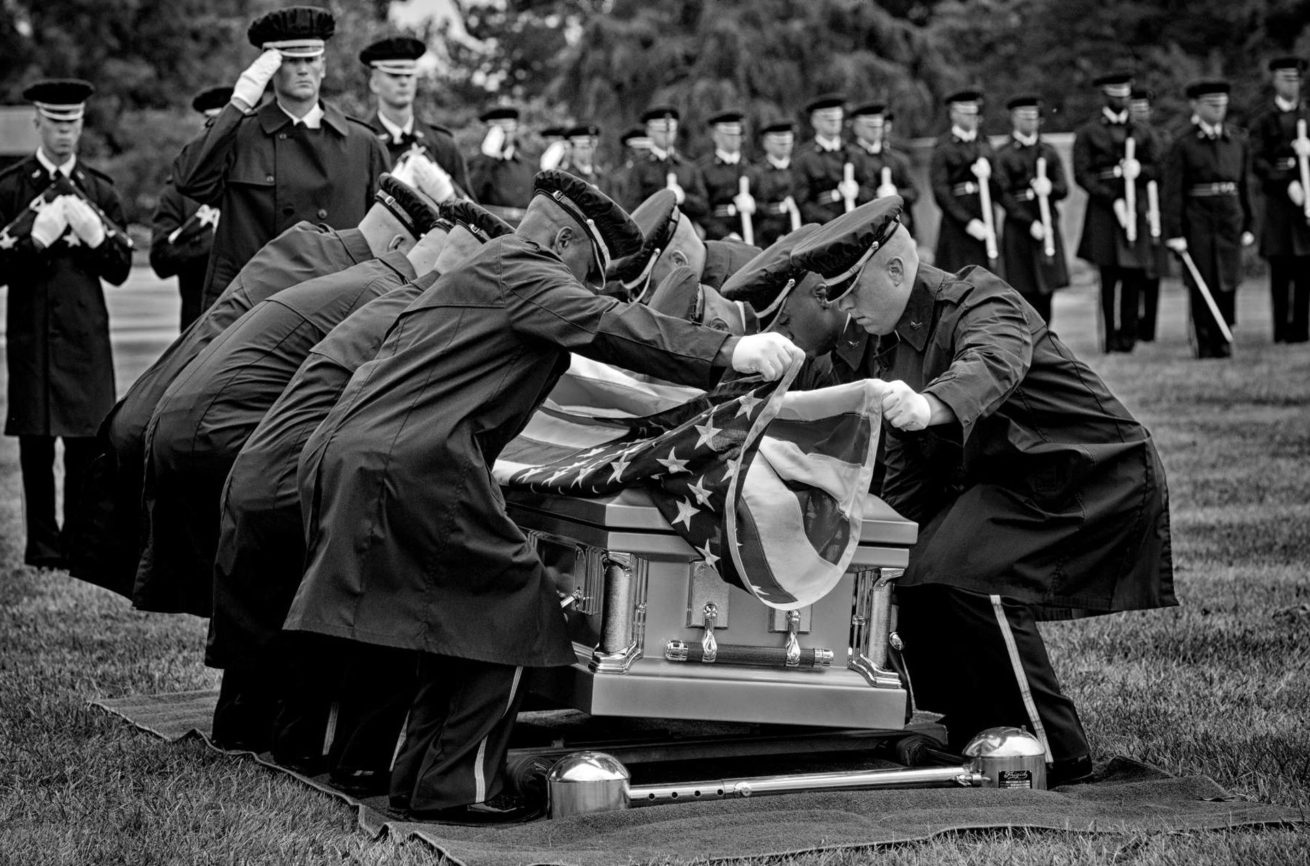 Burial procedures at Arlington National Cemetery